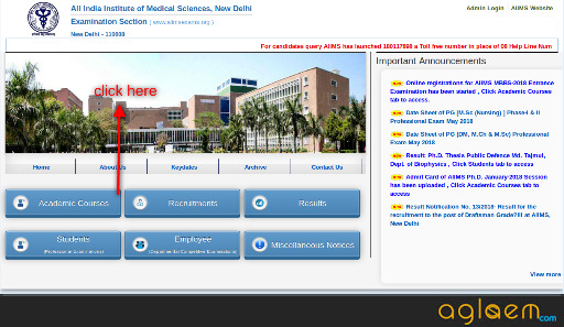 AIIMS DM MCH MHA July 2018 Application Form / Registration   Apply Here