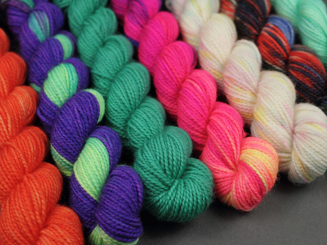 Sock Mini Skeins merino blend 20g lucky dip! (assorted colours)