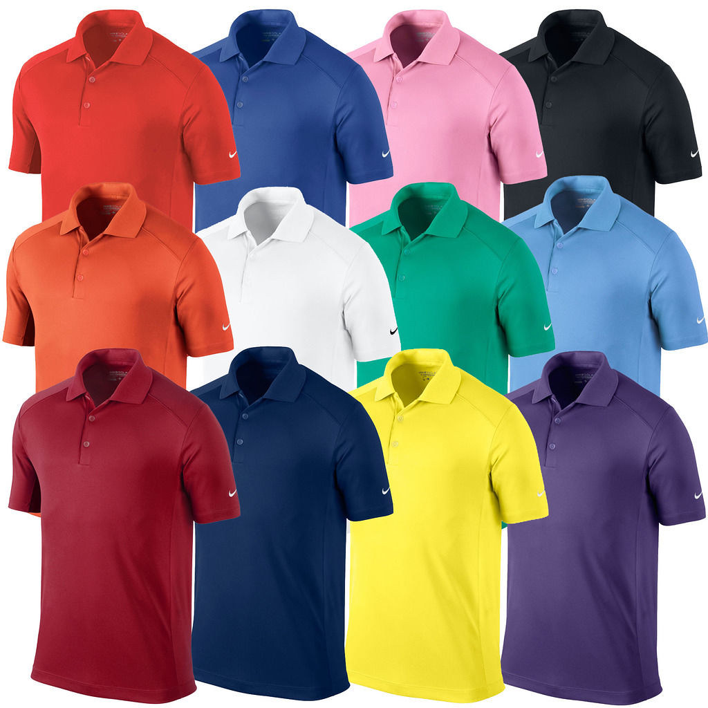New Mens Nike Golf Dri Fit Victory Solid Polyester Polo Sh Flickr