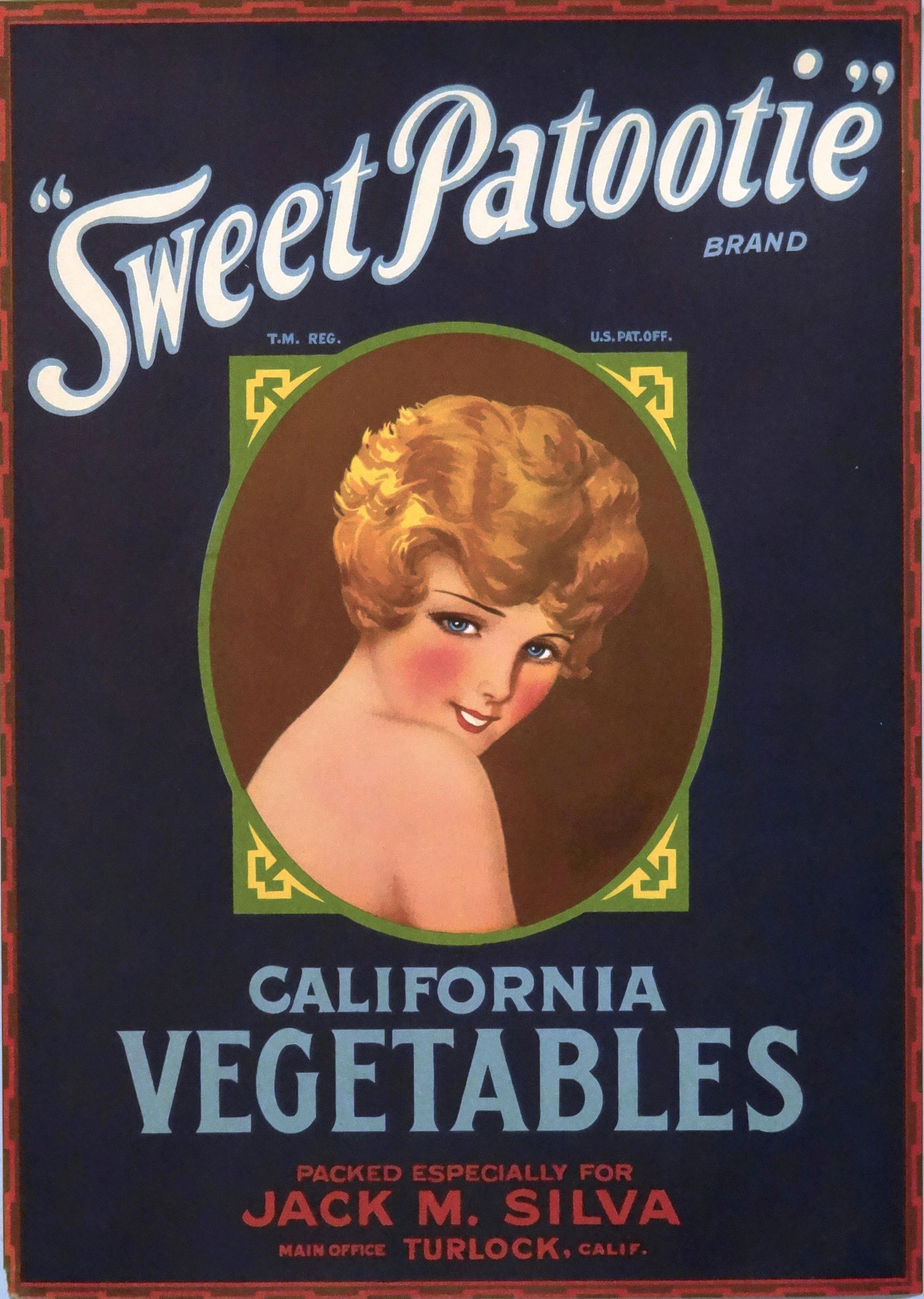 Sweet Patootie California Vegetables - 1920's