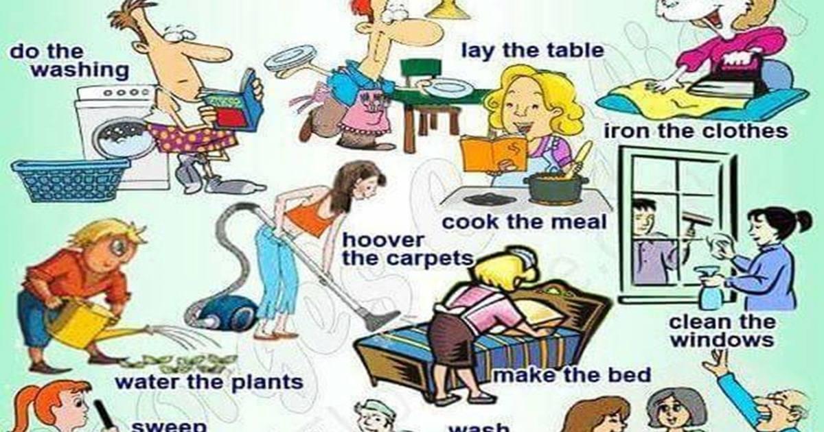 Vocabulary: Household Chores 5