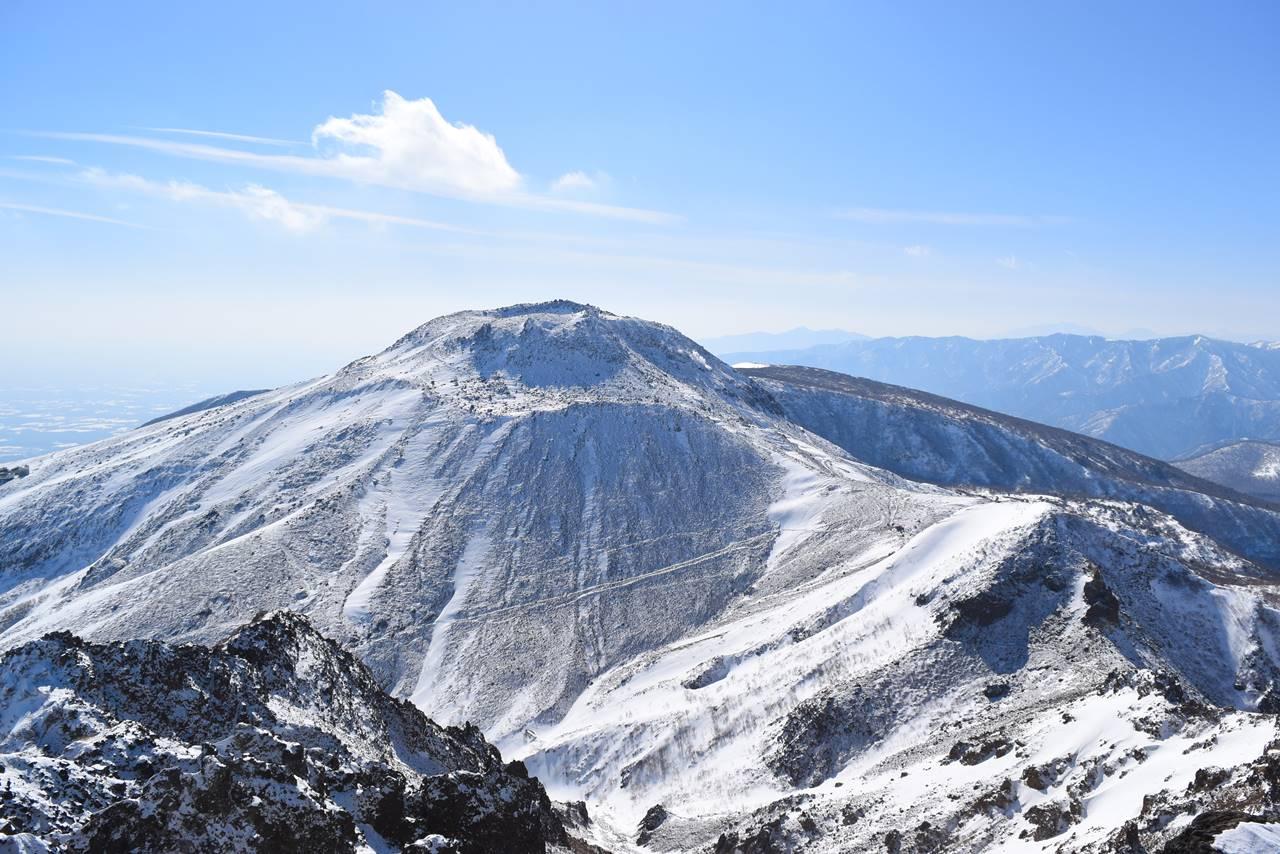 冬の那須岳登山 雪の茶臼岳