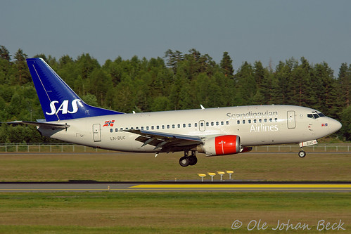 SAS Norge B737-505 LN-BUC at ENGM/OSL 27-06-2009 | by Ole Johan Beck
