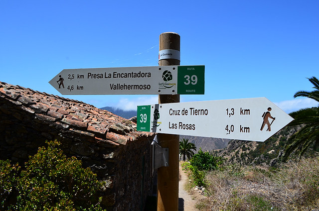 Walking signposts, La Gomera, Canary Islands