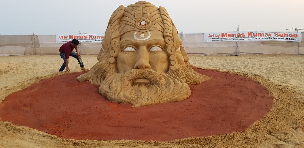 5th world-class sand art has been unveiled by Internationally-known Sand Artist Mr. Manas Kumar Sahoo