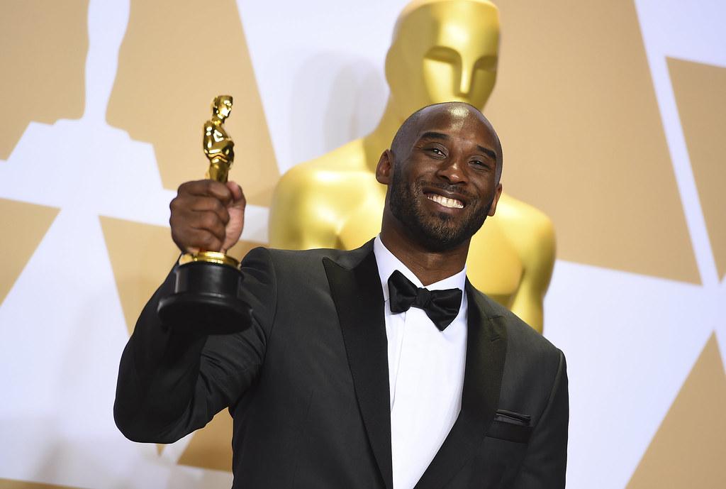 Kobe Bryant監製的短片《親愛的籃球》奪下奧斯卡。(達志影像)