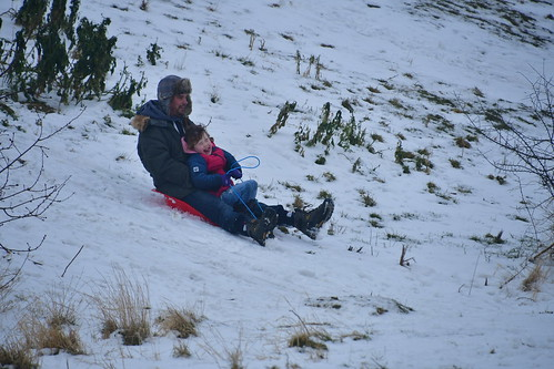 Sledging at Great Notley