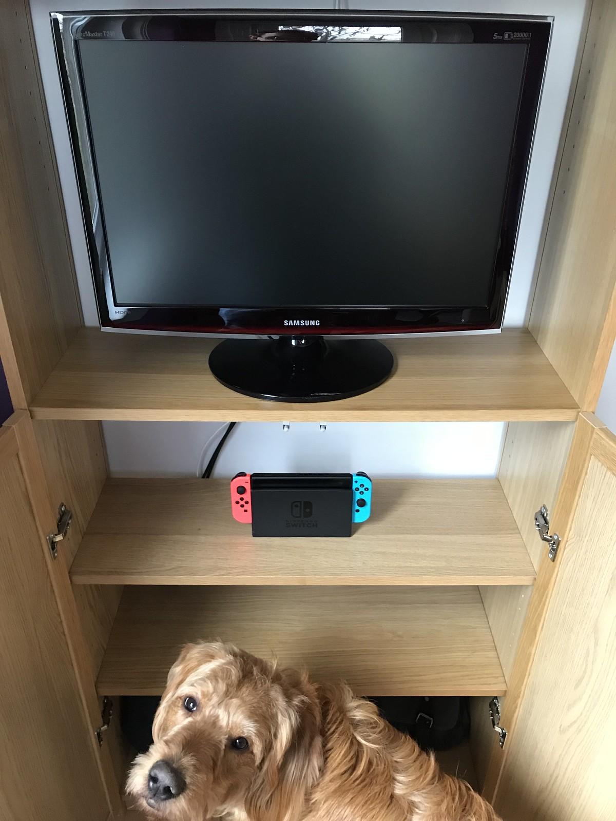 Interior of Switch cabinet in home office