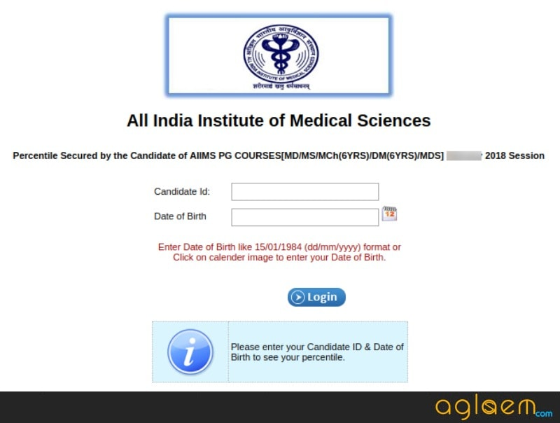 AIIMS PG 2018 Result (July) check here at mdmsmch.aiimsexams.org
