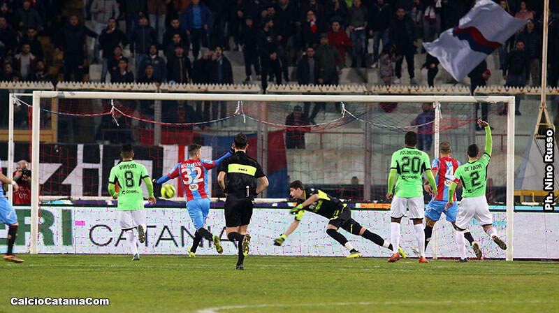 Il gol-vittoria siglato da Luca Tedeschi