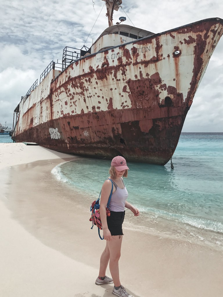 standing by shipwreck