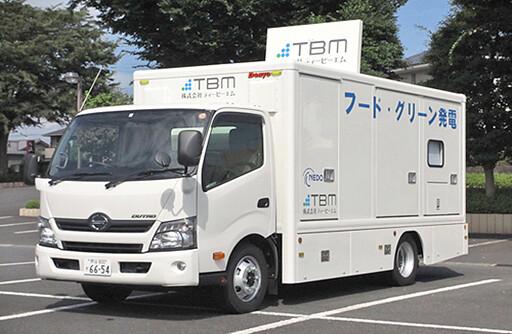新型生質燃料車搭載100KVA發電機組,猶如一部「行動發電機」。(圖片來源:NEDO)