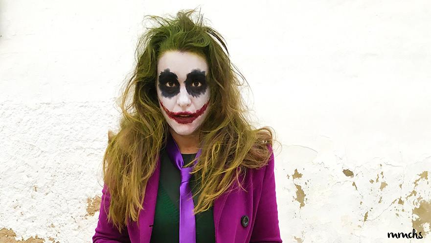 maquillaje de El Joker casero