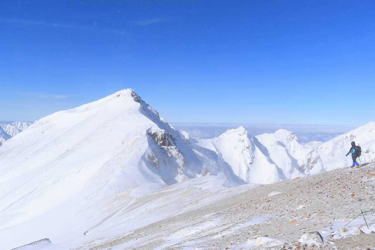 丸山から唐松岳山頂へ