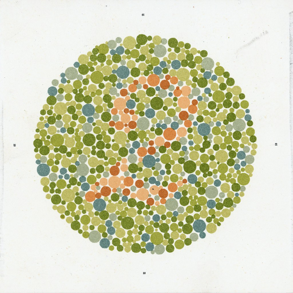 Ishihara chart for testing colour blindness | Credit: Scienc… | Flickr