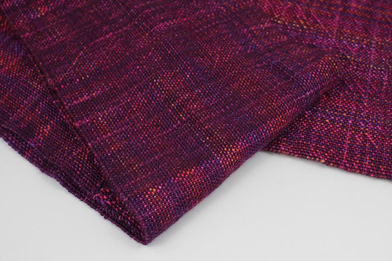 Sock yarn scarf fabric detail