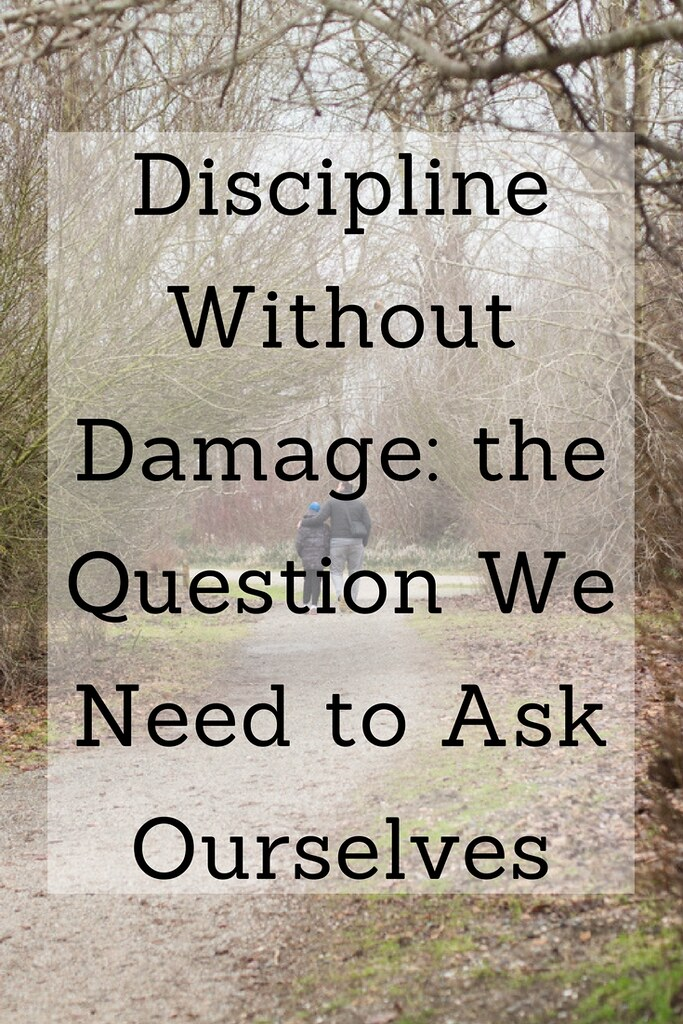 How can we best discipline our children? What is the one question we should be asking?