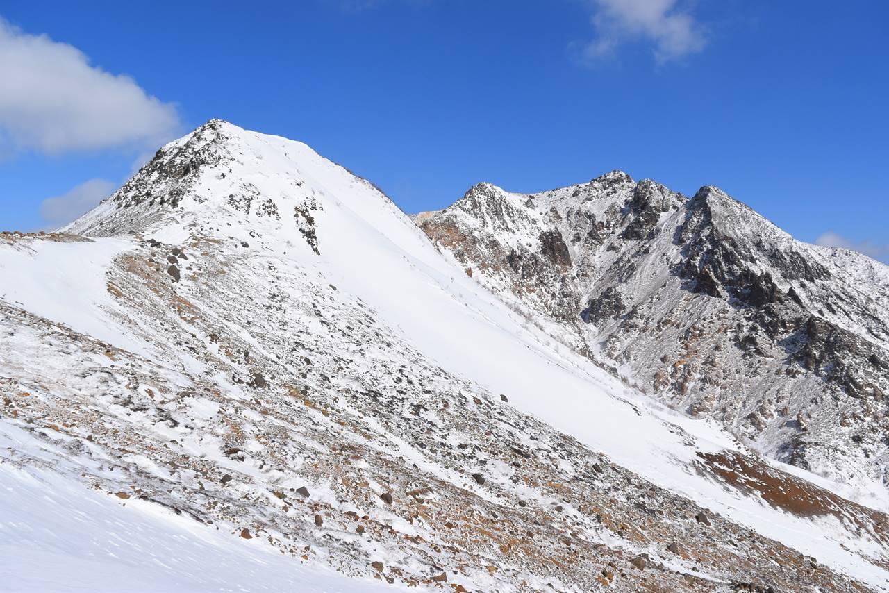 峰の茶屋からの剣ヶ峰と朝日岳