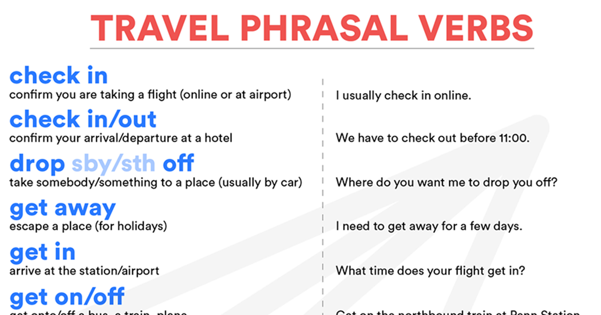 Phrasal Verbs Related to Travel 5