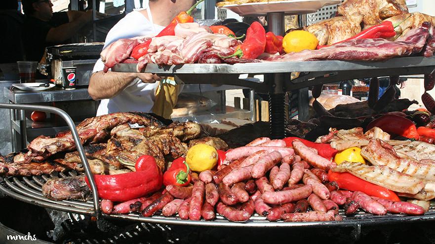 gastronomía feria medieval de Llombai