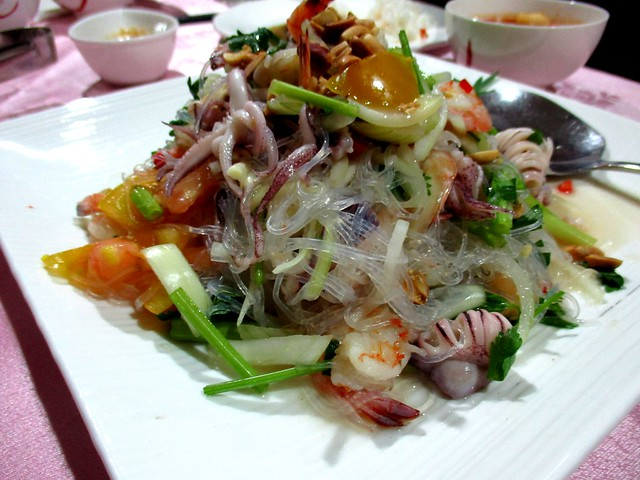 Flavours Thai Kitchen glass noodles seafood salad