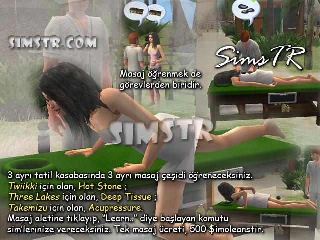 The Sims 2 Bon Voyage Learn Massage Masaj Yapmayı Öğrenme