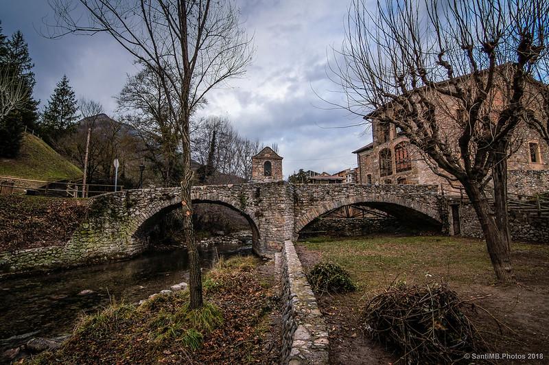 Pont de la Vila de Bagà desde el Bastareny