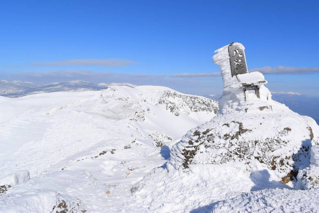 冬の安達太良山 乳首山頂