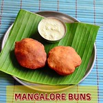 Mangalore buns recipe - Banana Poori With Coconut chutney