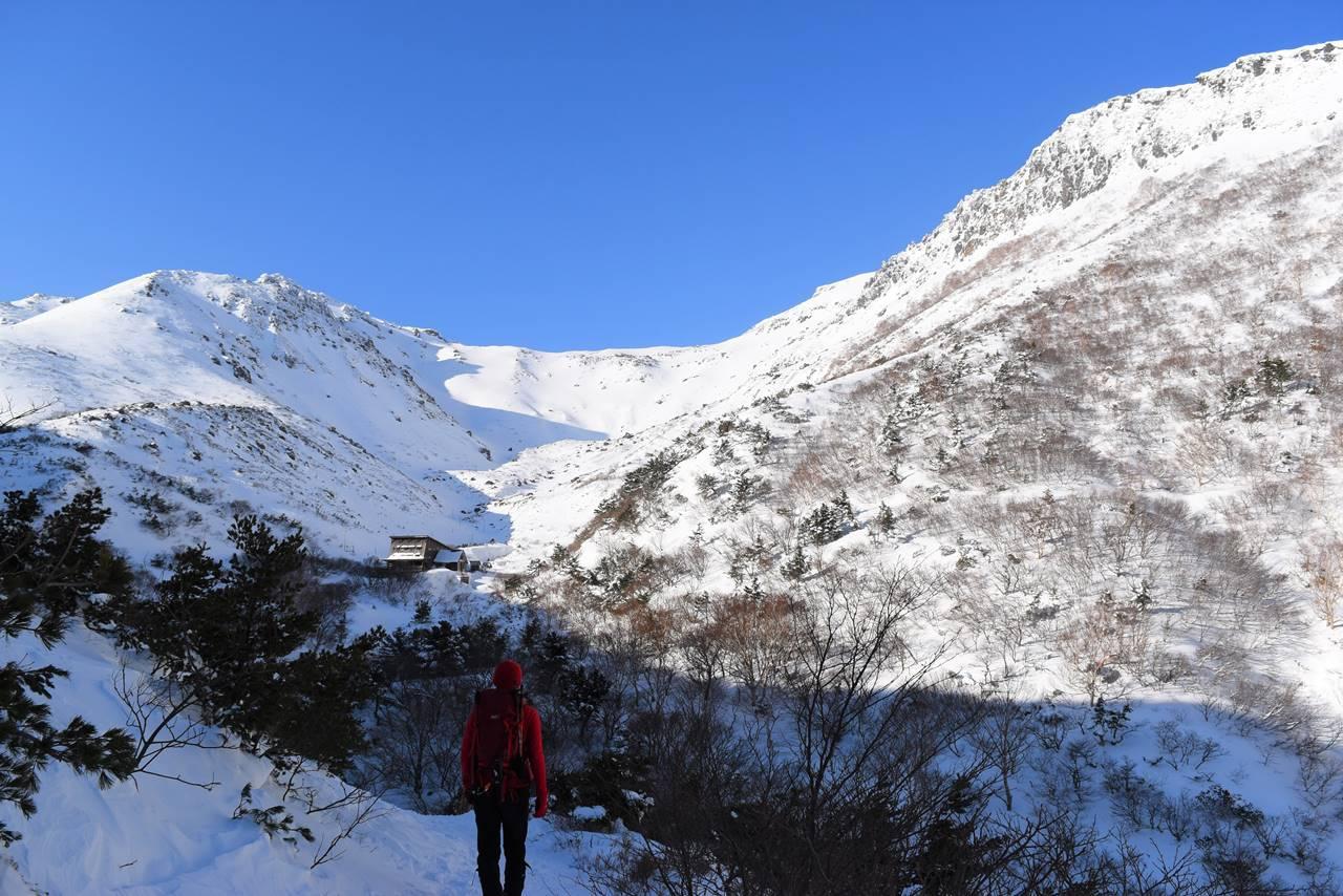 冬の安達太良山・くろがね小屋