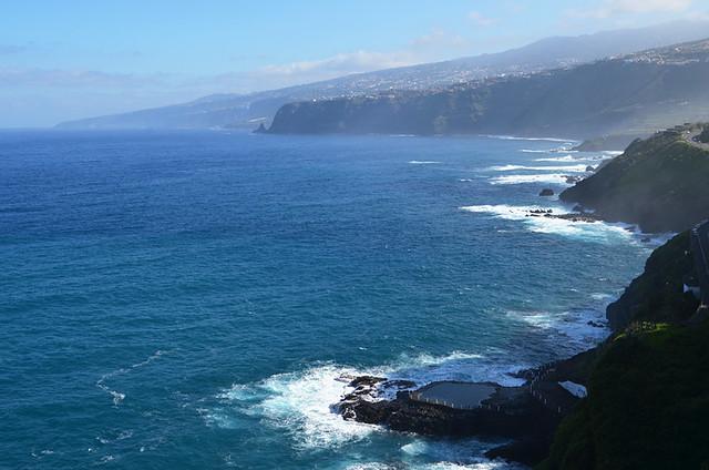 North coast from La Paz, Puerto de la Cruz, Tenerife