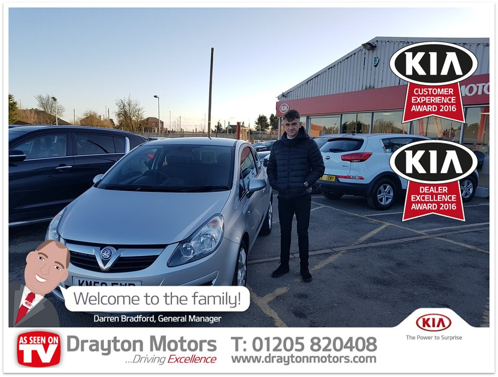 Mr Henton collecting his Vauxhall Corsa from Dean. This is…   Flickr