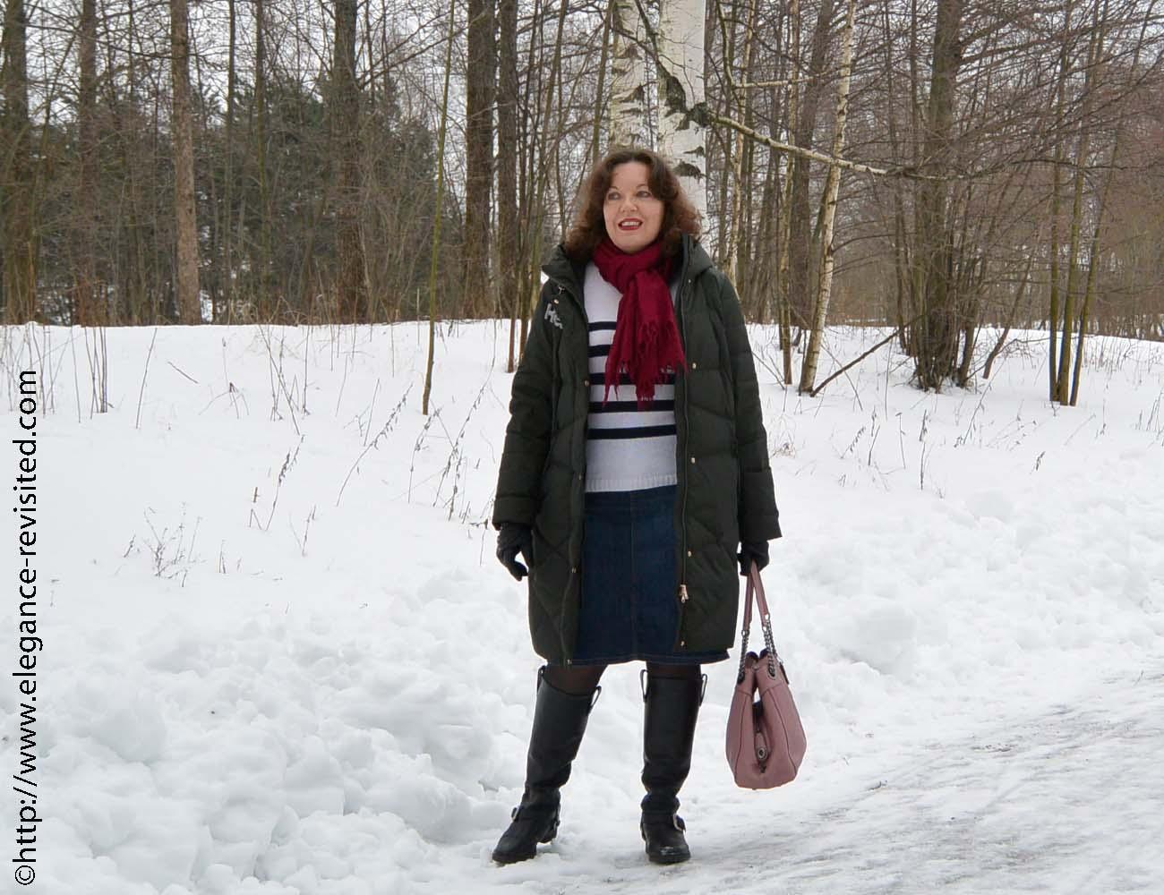 Breton stripes in winter