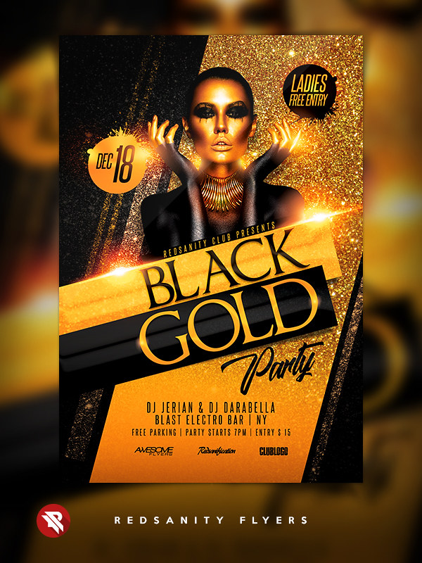 Black Gold Party Flyer DOWNLOAD the Photoshop file here G Flickr