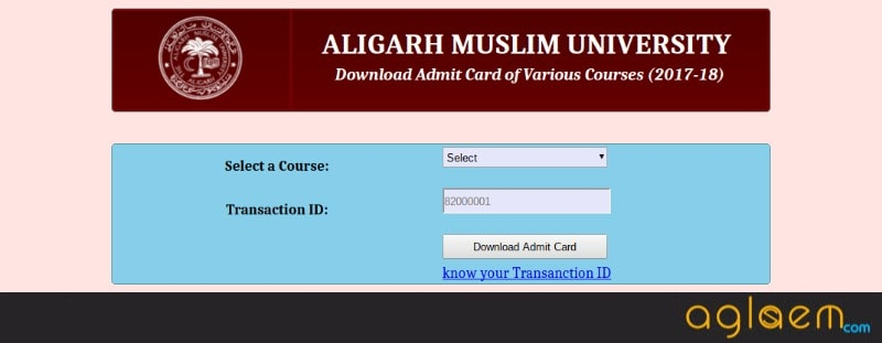 AMU 2018 Admit Card
