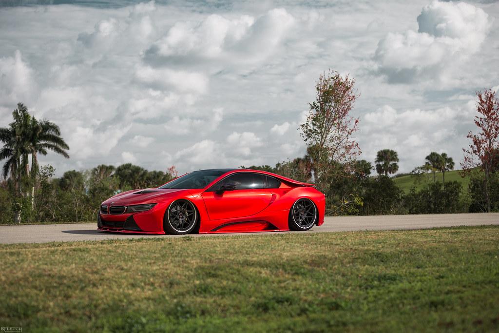 Bagged Red Bmw I8 2018 Kyle Fletcher Flickr