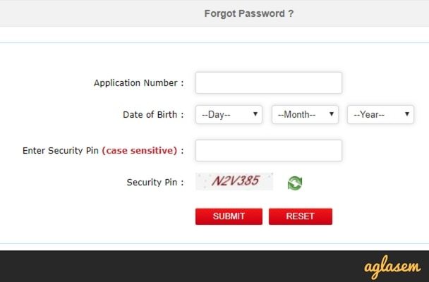 JEE Main 2018 Forgot Password Get By Email