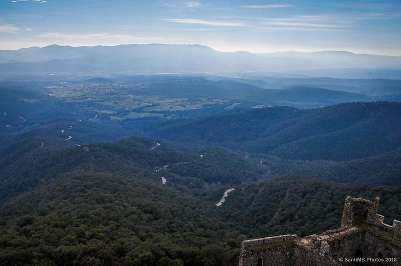El Montnegre y Breda desde la Torre del Homenaje del Castell de Montsoriu