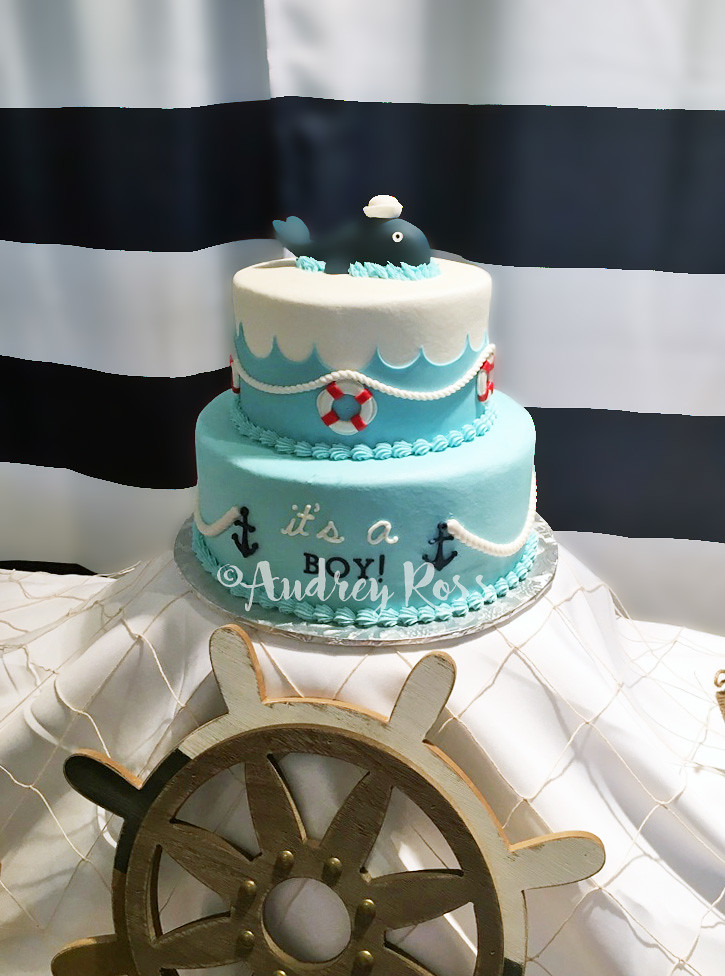 ... Nautical Baby Shower Cake   By The Cake Chic
