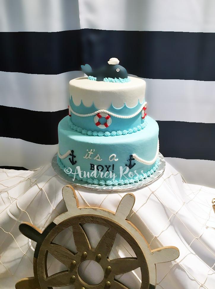 Nautical Baby Shower Cake Buttercream And A Few Handmade A Flickr