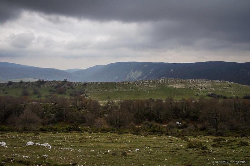 Parque Natural de Urbasa-Andía desde el collado de Ollide