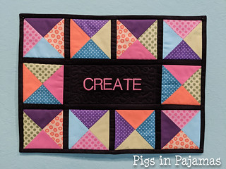 Create mini quilt | by pigsinpajamas