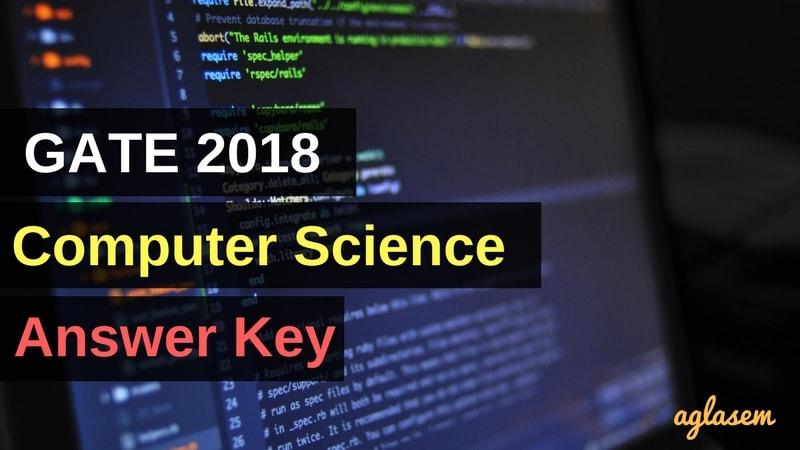 GATE 2018 CS Answer Key