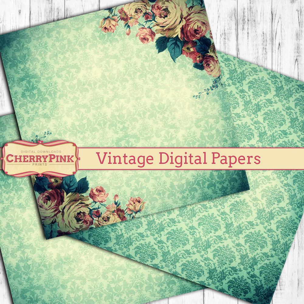 Vintage Scrapbook Paper Vintage Scrapbook Paper Here Etsy Flickr