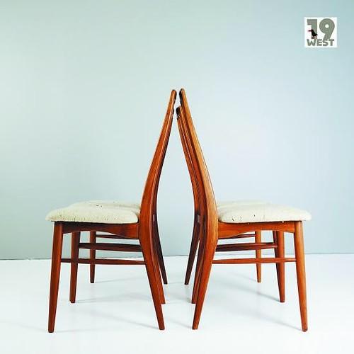 vintage Four Danish teak 'Eva' chairs...