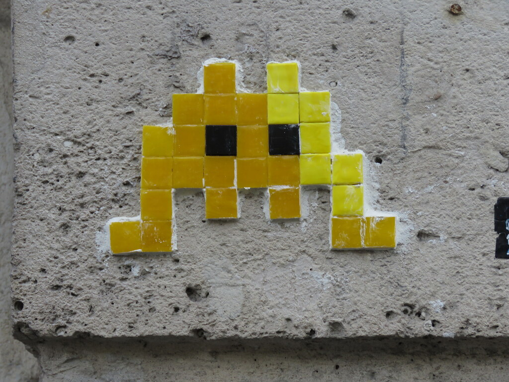 Space Invader PA_128 | Reactivated in february 2018 I\'ve nev… | Flickr