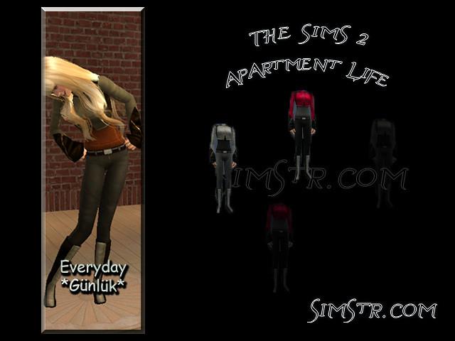 The Sims 2 Apartment Life Apartman Hayatı CAS News Yeni Kadın Kıyafetleri
