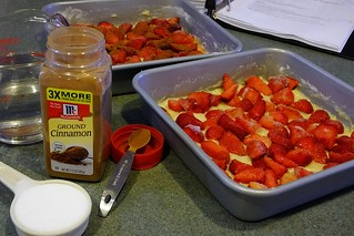 Adding Frozen Strawberries To Pound Cake