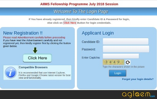 AIIMS Fellowship Programme July 2018 Application Form / Online Registration Started  Apply Here