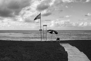 flag | playa jardin | puerto de la cruz | by John FotoHouse
